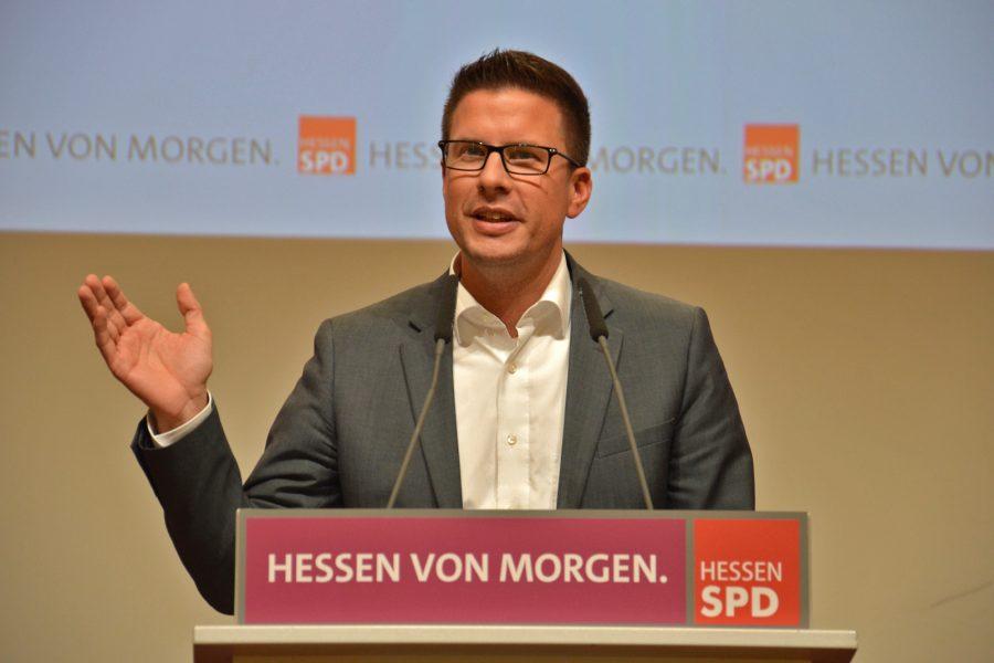 Swen Bastian beim SPD-Landesparteitag