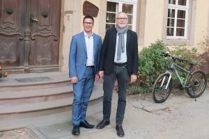 Swen Bastian und Gerhard Merz bei der Lebensgemeinschaft Sassen/Richthof