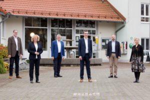 Spitzenteam der SPD Vogelsbergkreis zur Kreistagswahl 2021 mit Landrat Manfred Görig