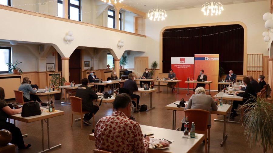 Pressegespräch zum Koalitionsvertrag CDU-SPD Vogelsbergkreis 2021-2026