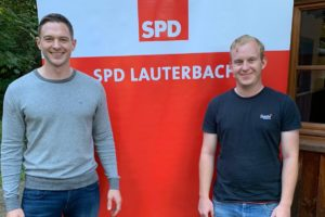 Der bisherige Vorsitzende Maximilian Ziegler (li.) mit seinem Nachfolger Frederik Frimmel